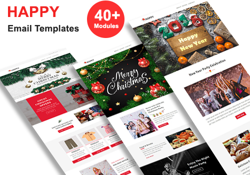 Happy - Responsive Email Template + Stampready Builder