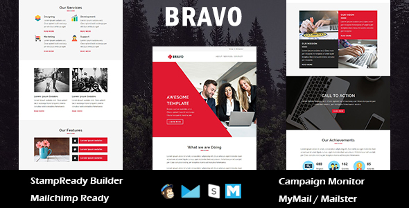 Get - Multipurpose Responsive Email Template With Online StampReady Builder Access - 4