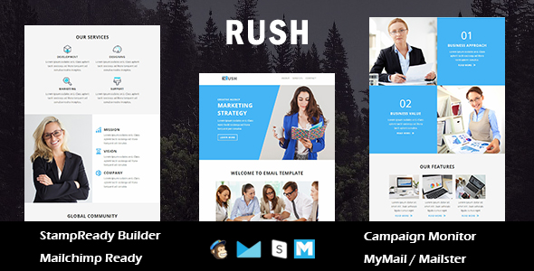 Travel - Responsive Email Template with Stamp Ready Builder Access - 1